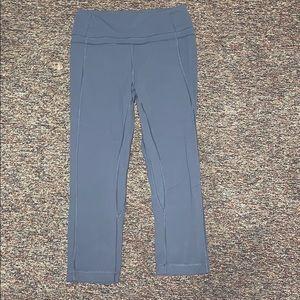"Align Crop 21"" Gray LULULEMON Leggings"
